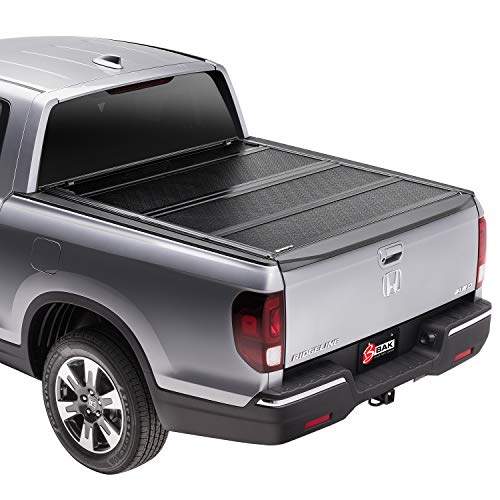 "BAK BAKFlip FiberMax Hard Folding Truck Bed Tonneau Cover | 1126506 | Fits 2005 - 2021 Nissan Frontier 4' 11"" Bed (58.6"") , Black"