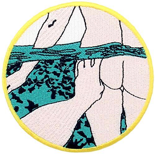 Onderwater van de zwempartij geborduurd apparaat badge ijzer op naaien op embleem