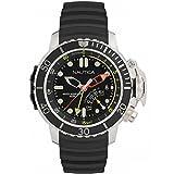 Nautica–nai47500g–Reloj Hombre–Cuarzo Analógico–Reloj Negro–Pulsera Caucho Negro
