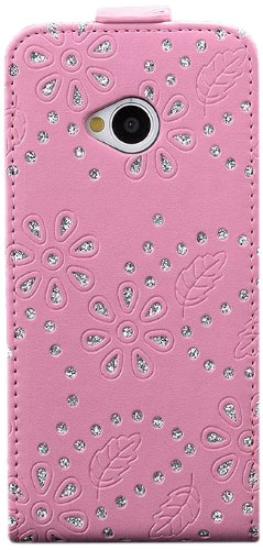 HTC One M7 | iCues brillo bolsillo plegable Rosa | [Protector de...
