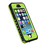 iPhone 5S/SE Case, Waterproof Dirtproof Shockproof Durable Hard Cover Case for Apple iPhone 5S, Fully Supports Finger Print Function for 5S -Green