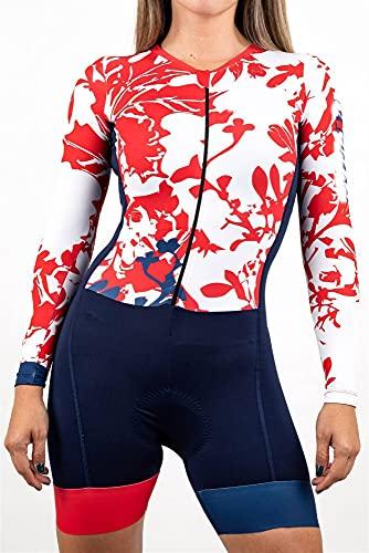 Mujeres de manga corta ciclismo de ciclismo mono prendable prendas de ciclismo,juegos de jersey de bicyle (Color : 4, Size : Medium)