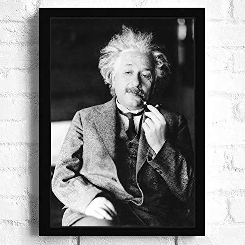 SDFSD Großer Physiker Wissenschaftler Einstein HD Life Photo Lustiges Bild Poster Schlafzimmer Home Decor Wohnzimmer Wandkunst Leinwand Malerei 40 * 60cm