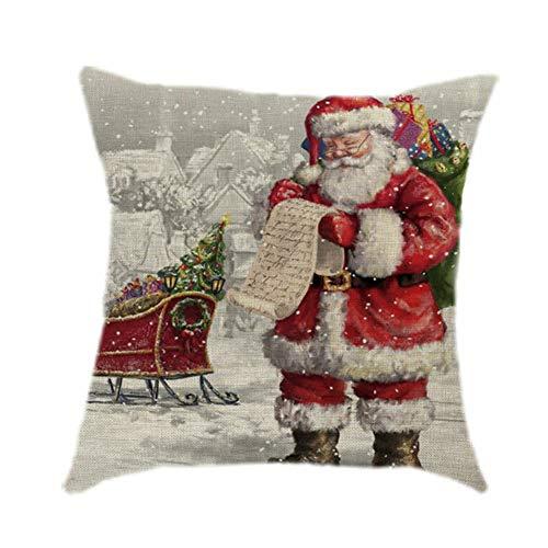 LPxdywlk Árbol De Navidad Santa Claus Elk Throw Pillow Case Funda De Cojín Home Sofa Festival Decoración Fotografía Atrezzo 8