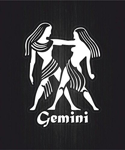 Akachafactory sticker sterrenbeeld Astrologie Gemini edelstenen, wit transparant