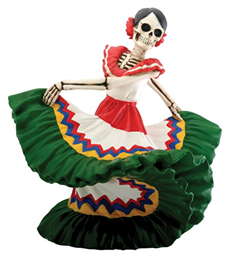 Día de los muertos Dancing mexicana (H: 5.5'x l: 6' x W: 4,5'& 2,25kg)