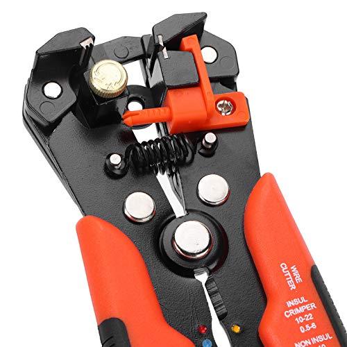 Alicates, pelacables profesional de agarre cómodo, multifuncional, autoajustable, resistente a la oxidación para cortar