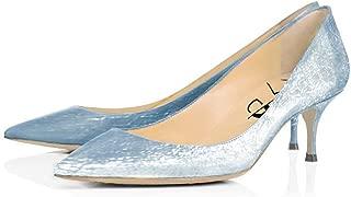 Office Formal Dress Pumps Pointy Toe Kitten Low Heels Comfortable Slip On Shoes for Women