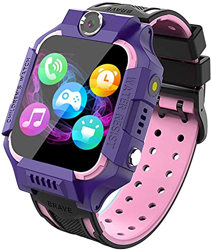Kids Smart Watch Phone, Touch Screen for Boys Girls with Camera Alarm Clock Games Mobile Sim Card Slot Toys Children's Day Gift,113