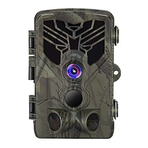 Fesjoy Outdoor-Wildkamera mit PIR-Sensor Infrarot-Nachtsicht 0,3 s Super Fast Trigger 16MP 1080P Trail-Kamera