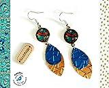Boucles d'oreilles Multicolores Cabochons Gouttes Capsules Nespresso Recyclage...