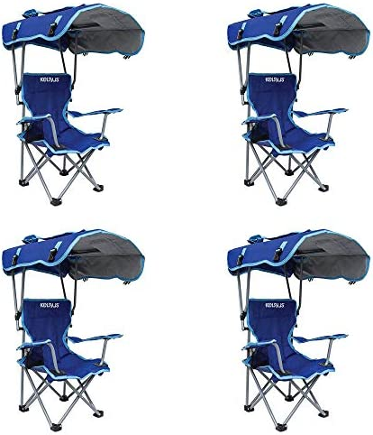 Kelsyus Kids Original Canopy Folding Backpack Lounge Chair Blue 4 Pack product image