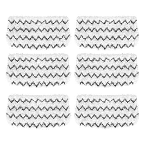 Yideng Almohadillas de mopa de vapor Almohadillas de microfibra de repuesto para fregona de vapor, lavables en el suelo para aspiradora Shark S1000 S1000A S1000C S1000WM S1001C 6 paquetes