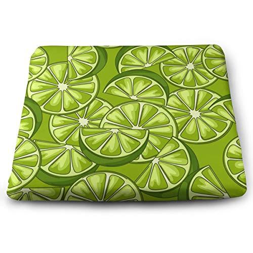 Houity Limes Vector Image - Cojín cuadrado 100% poliéster con núcleo de almohada, cojín para silla, diseño de tatami