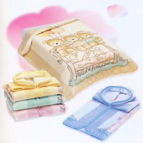 BabySac couverture bébé garçon 3 en 1 - N°628 Oursons et ballons - Jaune
