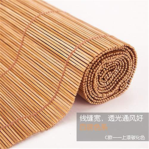 LLDKA Las persianas de bambú persianas, persianas de Madera con Velcro, para el Exterior de Cubierta Pergola Jardín Patio, (Tamaño: 115 x 200 cm),3