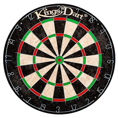 Kings Dart Soft- u. Steel-Dartscheibe | Sisalborsten | Für Anfänger u. Kinder | ø 45 cm