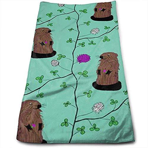 Bert-Collins Towel Printemps Marmotte Personnalité Amusant Motif Serviettes De Toilette Fibre Superfine Super Absorbant Serviettes Douces pour Le Gym