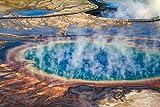 FPRW 5D Diy taladro redondo completo pintura de diamante Gran Prismático Parque Nacional de Yellowstone Kits de bordado abstracto sin marco 40X50CM