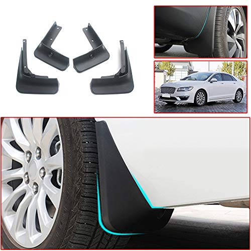 Muchkey no dril car mud Flaps for Lincoln MKZ 2017 2018 2019 Sedan Splash Front and Rear Guards 4pcs/Set