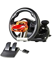 Serafim R1+ Racing Wheel 2021 Ver. - Steering Wheel with Sensitive Pedal – fully supports : XBOX ONE, XBOX Series X&S, PS4, PS3, Switch, PC, iOS, Android - Xbox One Steering Wheel, PS4 Steering Wheel, PC Gaming Wheel