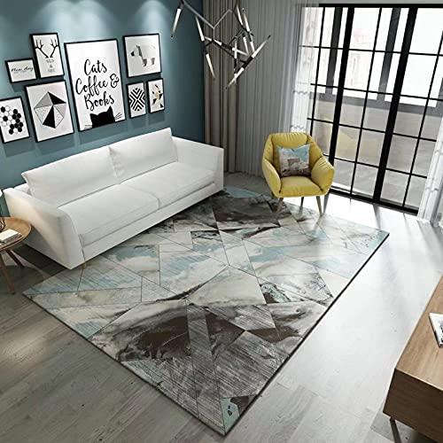 Modern Minimalist Style Living Room Coffee Table Carpet Double-Layer Thick Office Floor Mats Dirt-Resistant Bedroom Bedside Mats Non-Slip Door Mats, Pet Carpets