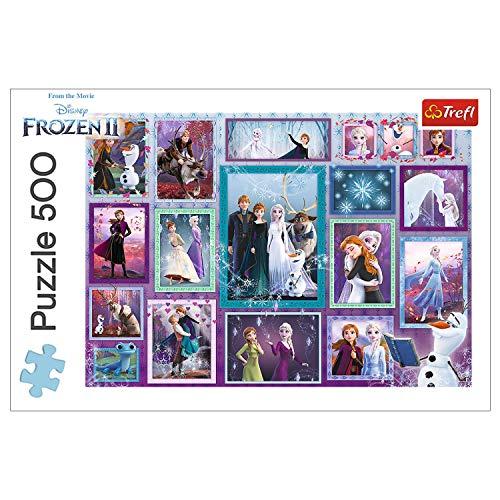 Trefl, Puzzle, Eine magische Galerie, 500 Teile, Die Eiskönigin II, für Kinder ab 10 Jahren
