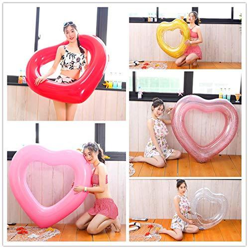 HLSX inflable anillo de natación adulto piscina flotante fiesta amor natación anillo niños bebé flotante colchón inflable juguete
