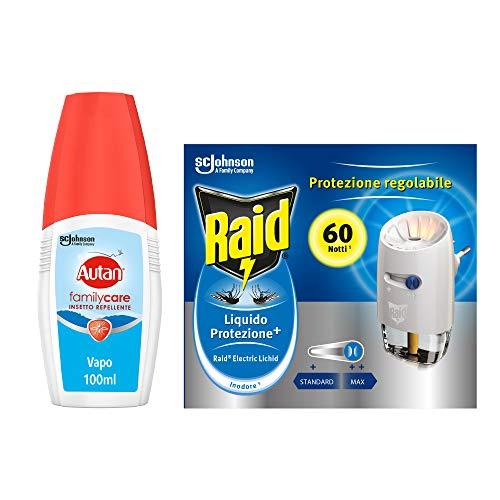 Kit Protezione dalle zanzare Raid Autan: Autan Family Care Vapo 1 confezione da 100ml + Raid Liquido...