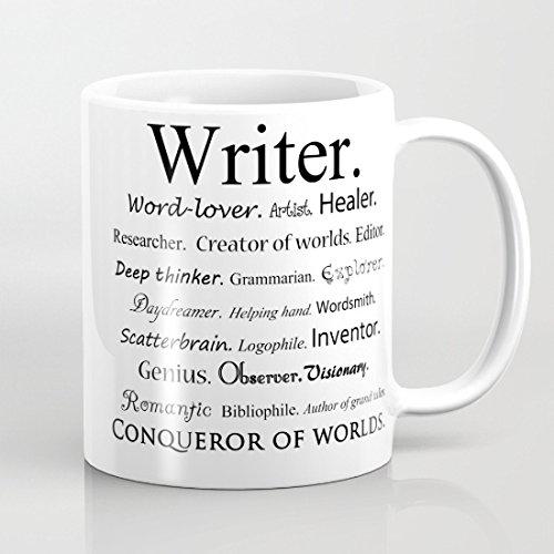Lustige Tasse für Schriftsteller, Sarkasmus, Büro, Kaffeetasse, Motivationstasse, Geschenk, einzigartige Tasse für Vater, 325 ml, beidseitig