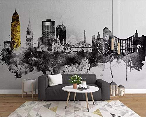 XHXI Nordic Minimalist Abstract Ink Wallpaper Non-Woven Wallpaper 3D Wallpaper Modern Murals Wall Decoration 3D Wallpaper Living Room The Wall for Bedroom Mural border-350cm×256cm