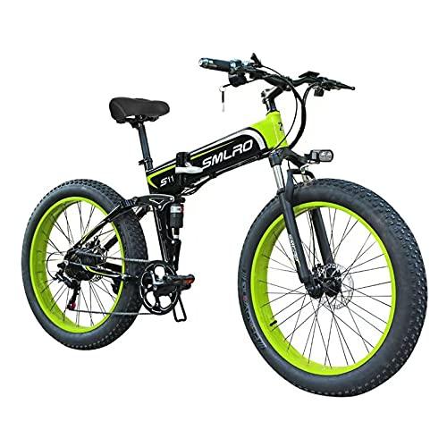ZOSUO City Bike E-Bike 26 Zoll E-Bike Trekking Für Herren Pedelec Mountainbike 48V10AH Batterie/Shimano 7-Gang-Getriebe/Höchstgeschwindigkeit 30Km/H/Kilometerstand Aufladen Bis Zu 35-40Km,Grün