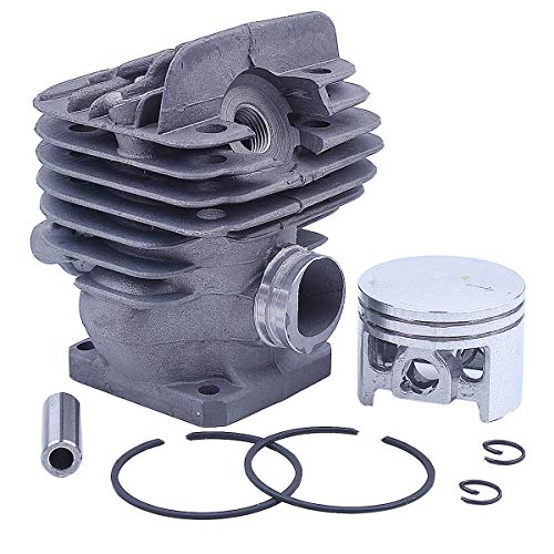 Adefol Nikasil 44.7mm Big Bore Chainsaw Cylinder Piston Kit For Stihl 026 MS260 026PRO Replacement Parts with Gasket Set Oil Seal Set Needle Bearing Spark Plug Cylinder Plug Decompression Valve