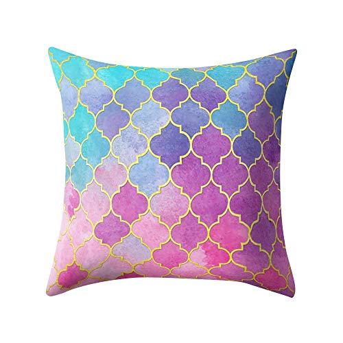 VJGOAL Hexagonal de Nido de Abeja de impresión Suave Cojín Cómodo Funda de Almohada Cuadrada Decoración del Hogar(45_x_45_cm,Negro5)