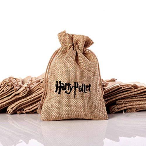 OMzgxGOD - 10pcs Harry Potter Saco de Regalo ,Yute Bolsas de Arpillera