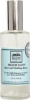 The Good Home Co. Sheet and Clothing Spray, Beach Days, 4 Ounce