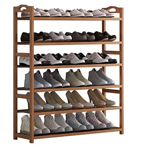 XYZMDJ schoenenrek van bamboe, 6 dieren schoenenrek voor kasten, ingang, plank van de schoen, ideaal voor hal en badkamer