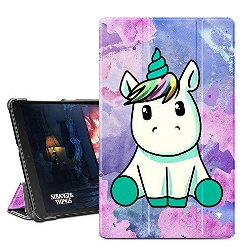 ZhuoFan Funda Samsung Galaxy Tab A 10.1 2019, Case Cuero PU Silicona Magnetica Función de Soporte y Auto-Desbloquear Cover Protector Piel Compatible con Samsung T515/T510 10.1