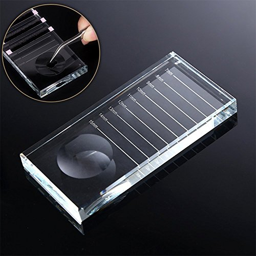 ATOMUS Eyelash Separator Pallet Glass Palette Glass False Lashes Glue Pallet Holder for Eyelash Extensions 10cm x 5cm x 1cm