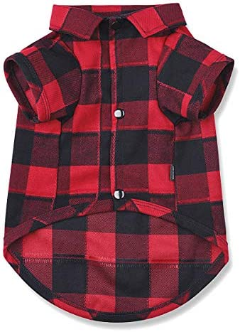 Ctilfelix Dog Shirt Plaid Dog Clothes for Small Dogs Cats Puppy Boy Girl Soft Pet Polo T Shirt product image