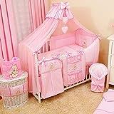 17tlg. TIMI Baby Bettwäsche-Set Babybett Komplett-Set Kinderbett Kinderbettwäsche für Babys und...