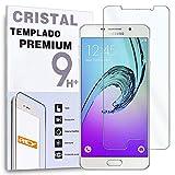 REY Protector de Pantalla para Samsung Galaxy A3 2016 Cristal Vidrio Templado Premium