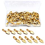 Hendevl 60 Pcs Gold Oval Spoon Scrabble Leaf Glue On Flat Rocks Earring Pad Pendant Bails Cabochon Setting for Fitting Glass Cabochon Tiles Necklaces Pendants DIY Jewelry Making with 1Pcs Box
