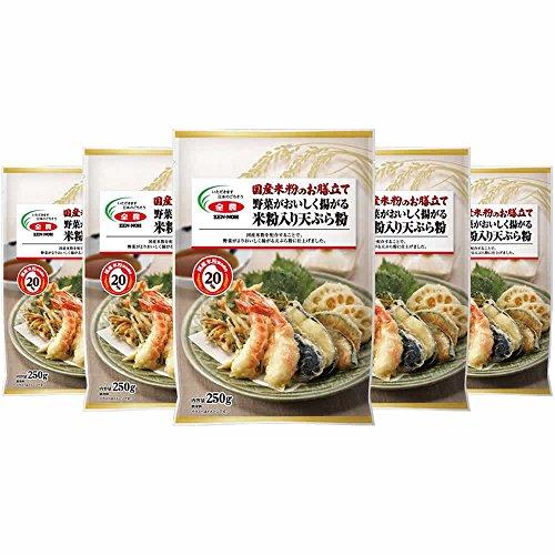 全農『国産米粉のお膳立て野菜がおいしく揚がる米粉入り天ぷら粉』