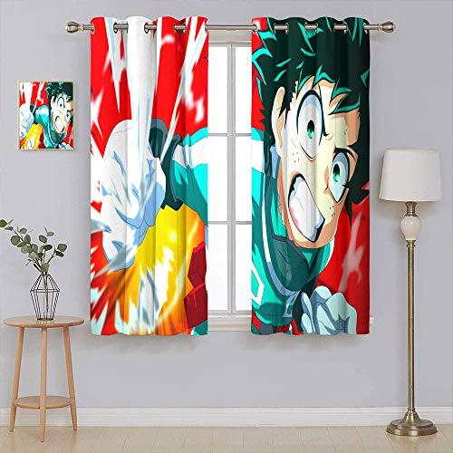 izuku Midoriya My Hero Academia - Cortinas aisladas térmicas para cocina, dormitorio, 150 x 118 cm