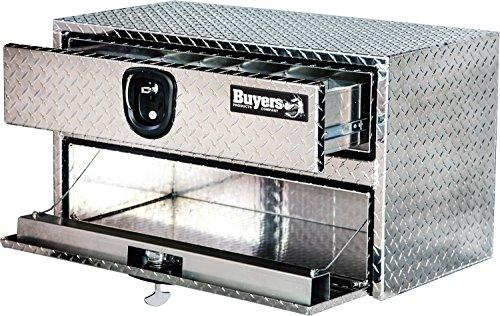 Buyers Products Diamond Tread Aluminum Underbody Truck Box w/Drawer (20x18x48 Inch)
