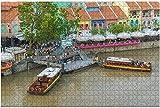 500 piezas-Singapur Singapur 18 de septiembre de 2016 Clarke Quay Puerto antiguo Rompecabezas de madera DIY Niños Rompecabezas educativos Regalo de descompresión para adultos Juegos creativos Juguete