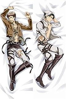 Funda de almohada para hombre, diseño de anime japonés Attack on Titan Levi Rivaille Jean Kirstein Hugging Body BL 50,8 x 137,2 cm