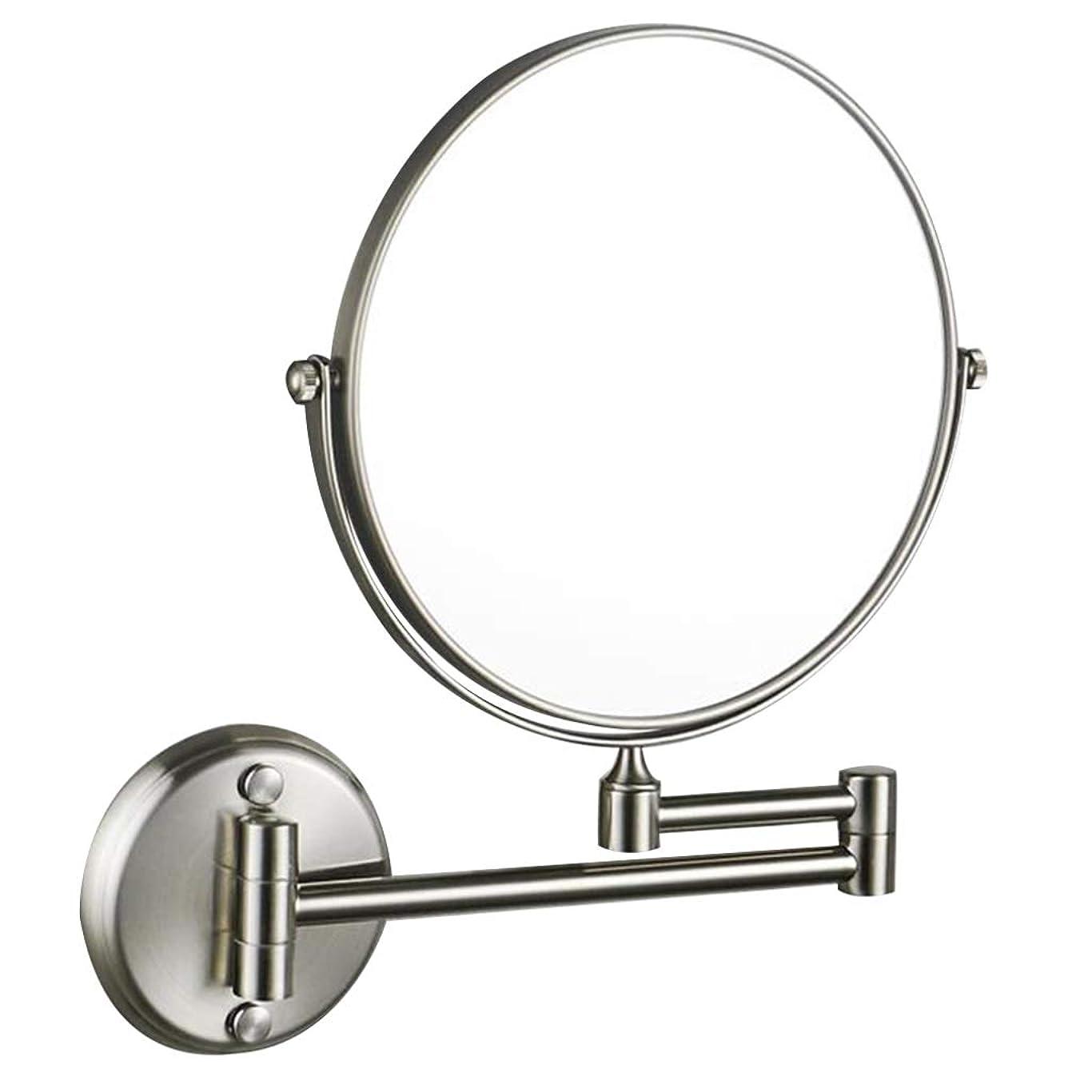 仕事に行く休憩する赤面HUYYA シェービングミラー バスルームメイクアップミラー 壁付、バニティミラー 3 倍拡大鏡 化粧鏡 360度回転 丸め 寝室や浴室に適しています,Copper wire drawing_8inch