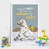 Will & Ruby Äffchen und Pferd, Poster, A2, Kinderzimmer,